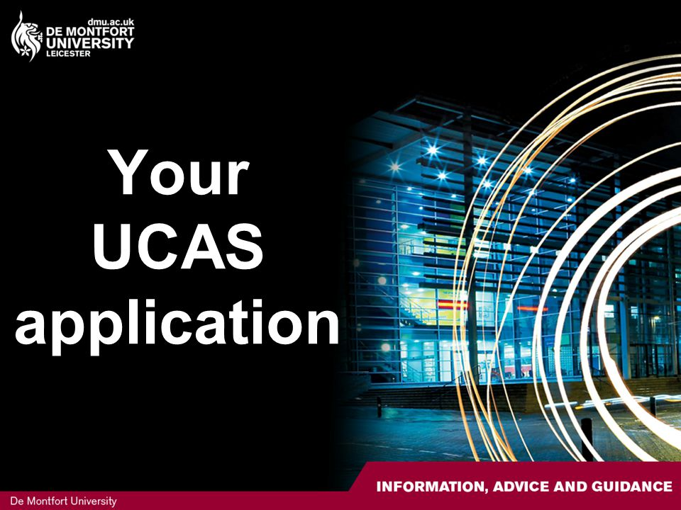 Your UCAS application