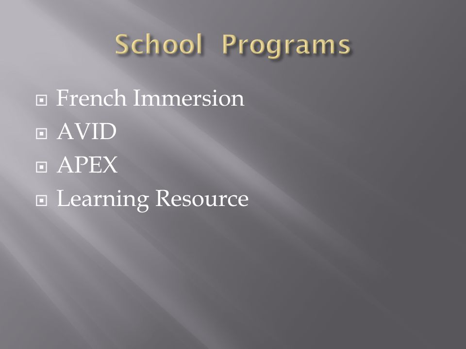 French Immersion AVID APEX Learning Resource