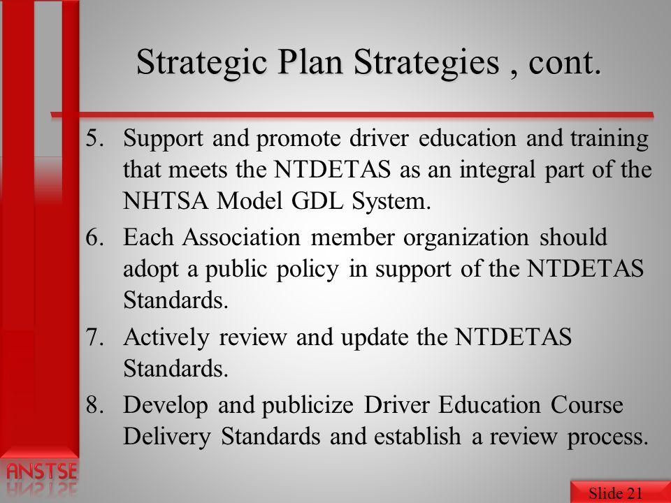 Slide 21 Strategic Plan Strategies, cont.