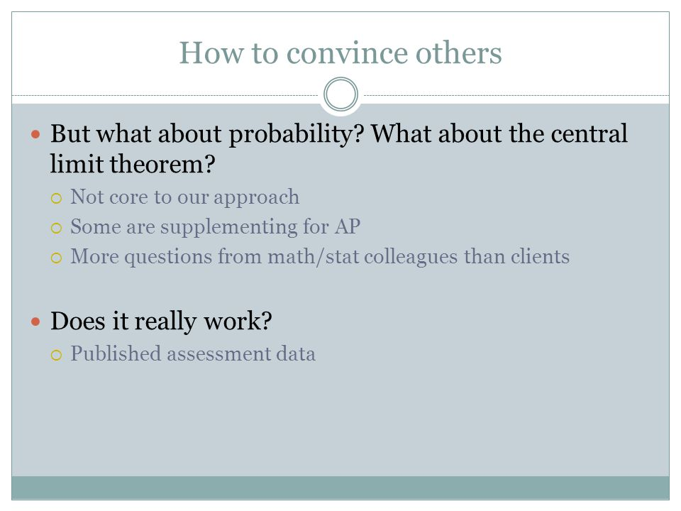 How to convince others But what about probability.