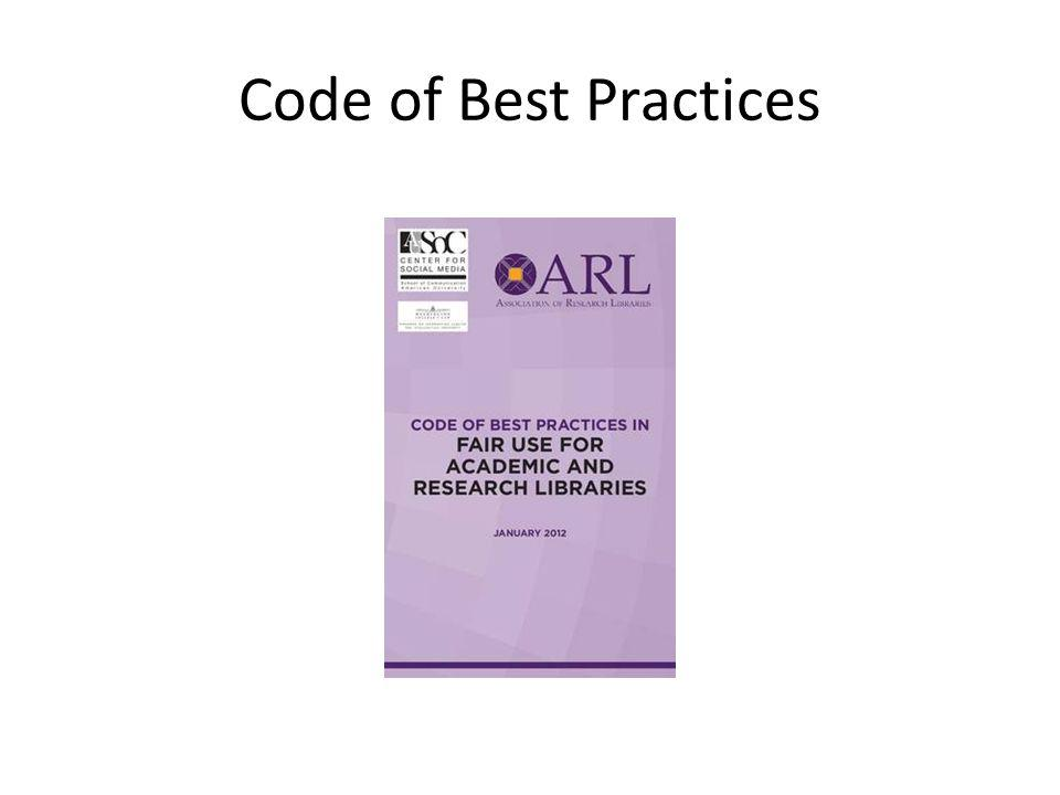 Code of Best Practices