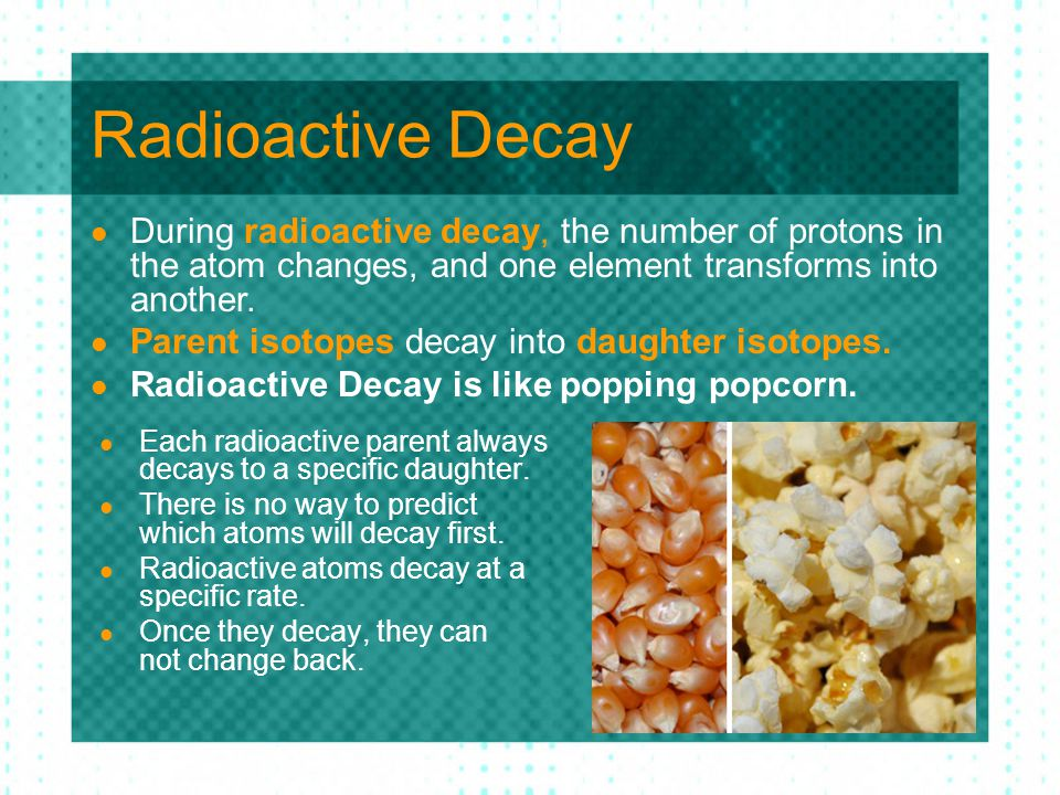 How Long Does Radioactive Decay Take.