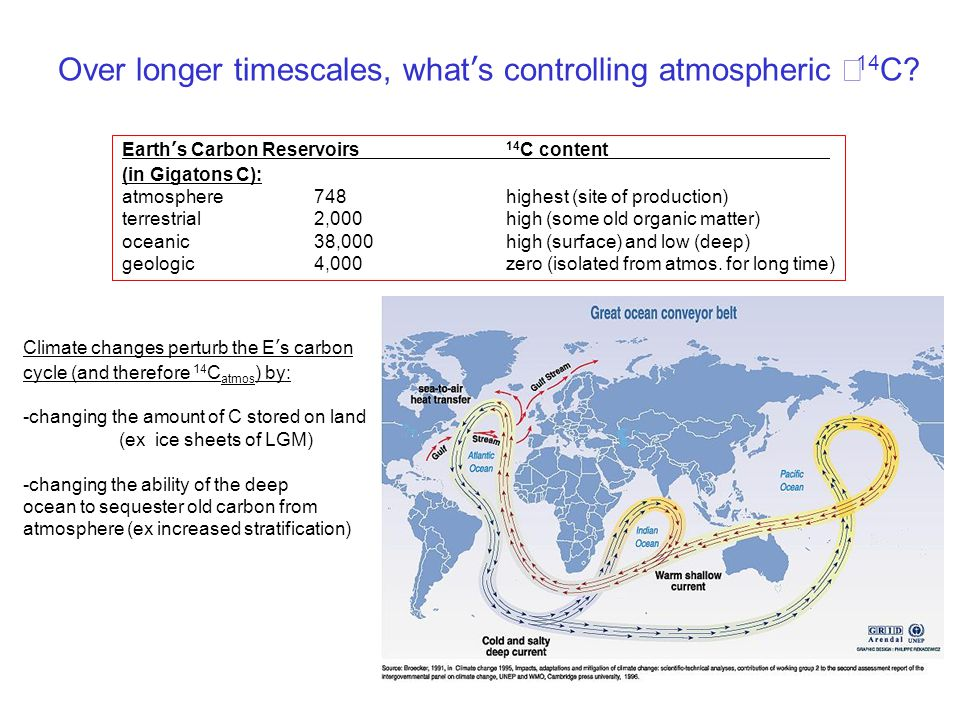 Why does the Northern Hemisphere have lower Δ 14 C.