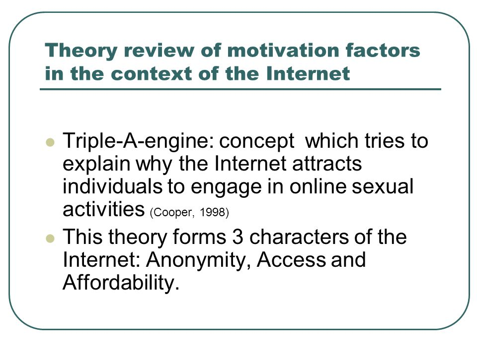 References: Brym, R., & Lenton, R.(2001). Love online: A report on digital dating in Canada.