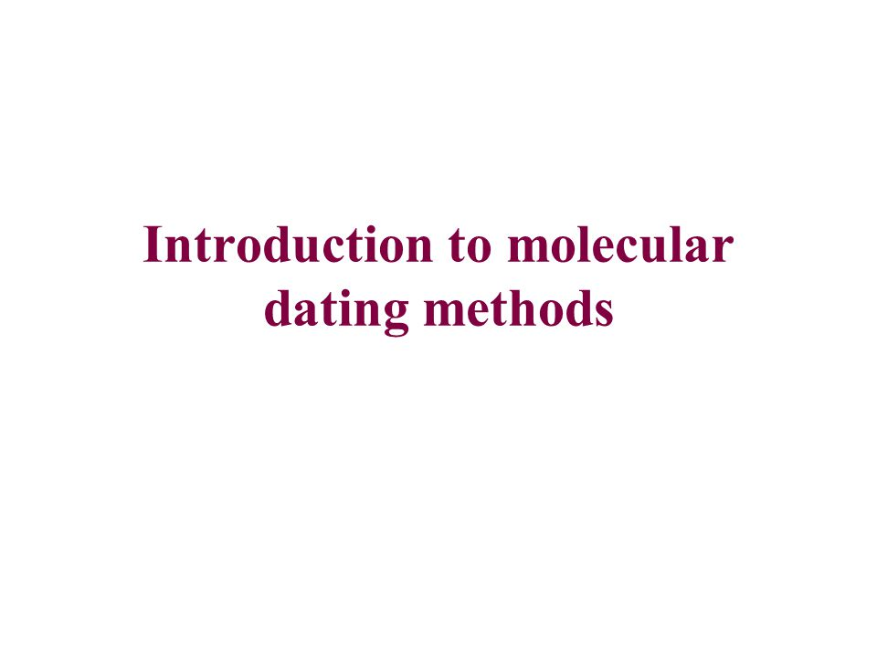 Introduction to molecular dating methods