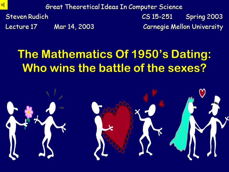 The Mathematics Of 1950s Dating: Who wins the battle of the sexes.