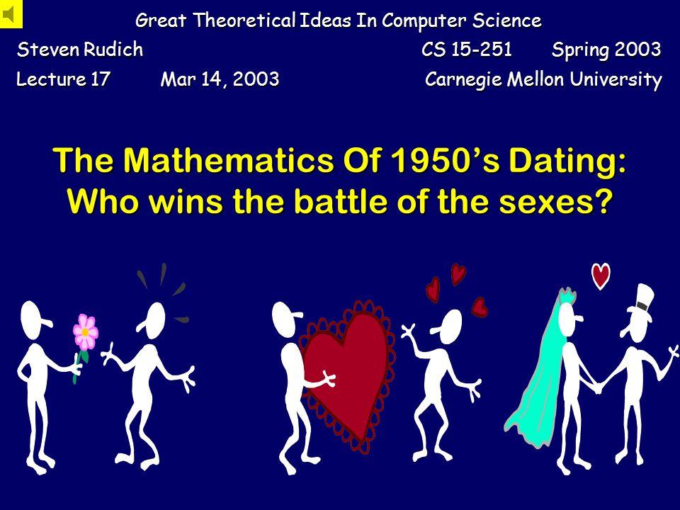Steven Rudich: www.discretemath.com www.rudich.net An Instructive Variant: Bisexual Dating 1 3 2,3,4 1,2,4 2 4 3,1,4 *,*,*