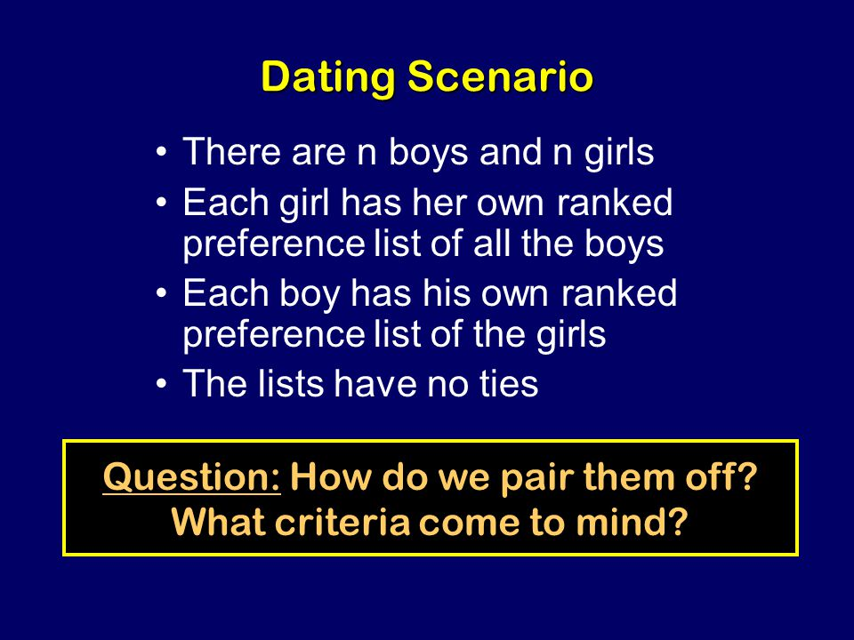 Steven Rudich: www.discretemath.com www.rudich.net Opinion Poll Who is better off in traditional dating, the boys or the girls?