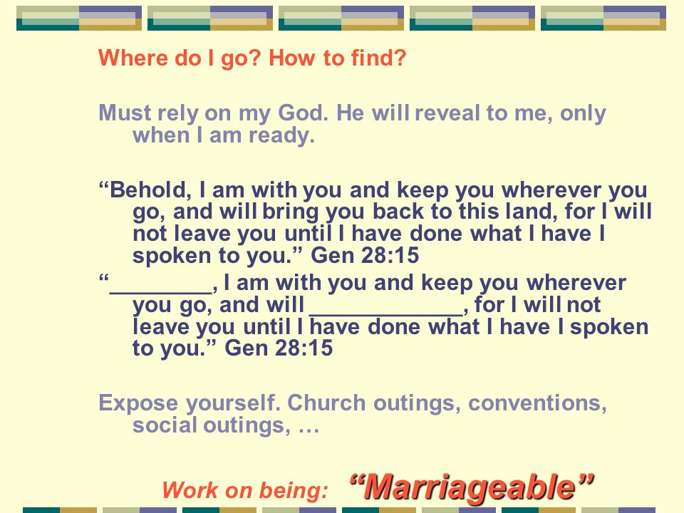 Where do I go. How to find. Must rely on my God.