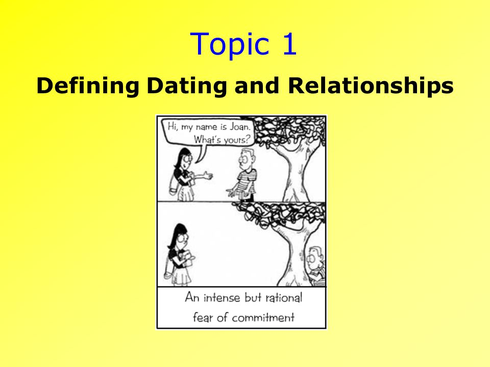 Topic 1 Defining Dating and Relationships