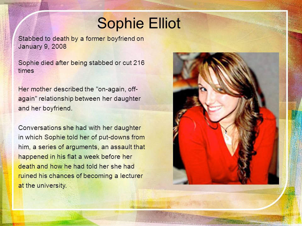 Sophie Elliot.