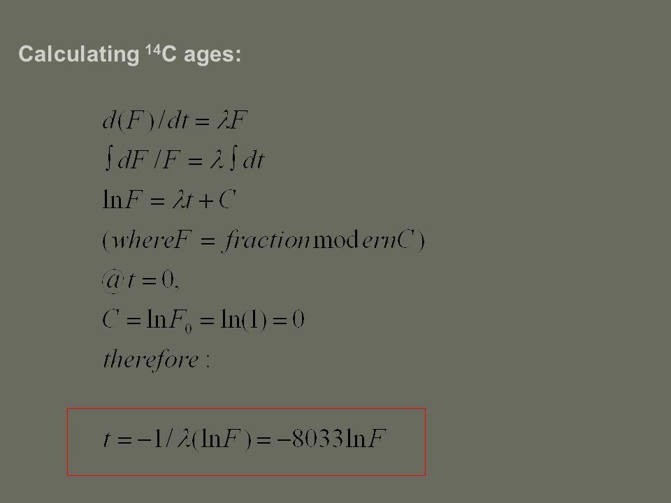 Calculating 14 C ages: