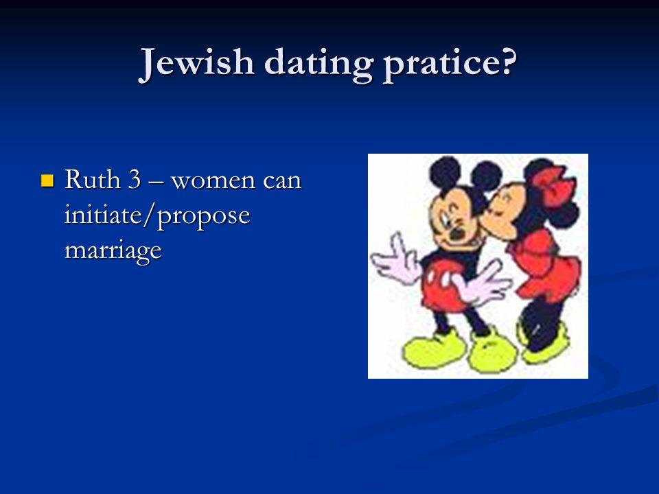 Jewish dating pratice.