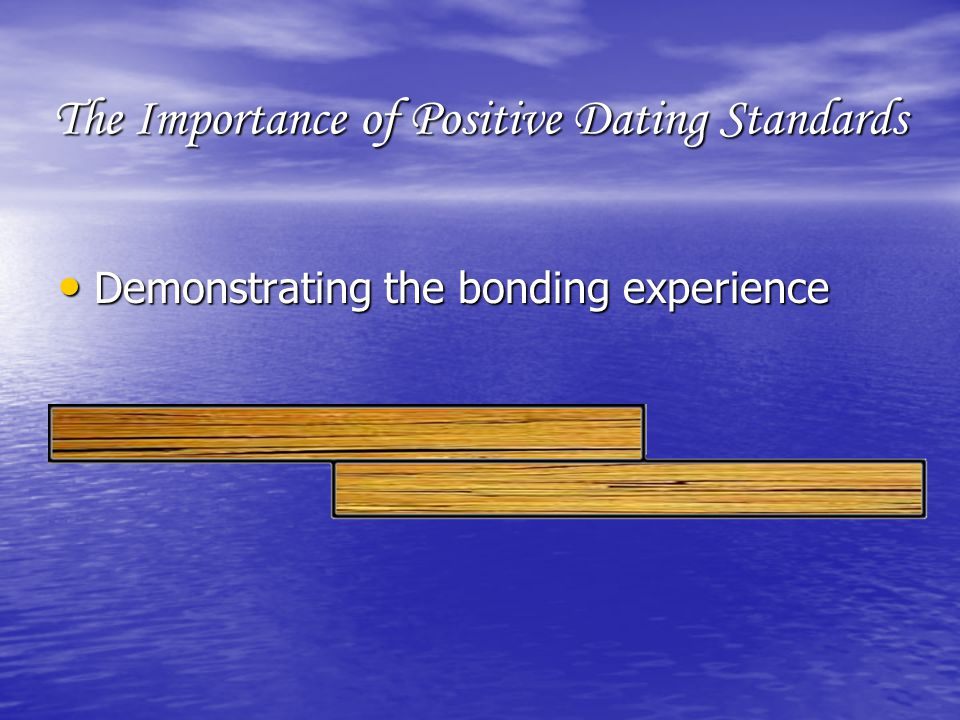 The Importance of Positive Dating Standards Demonstrating the bonding experience Demonstrating the bonding experience