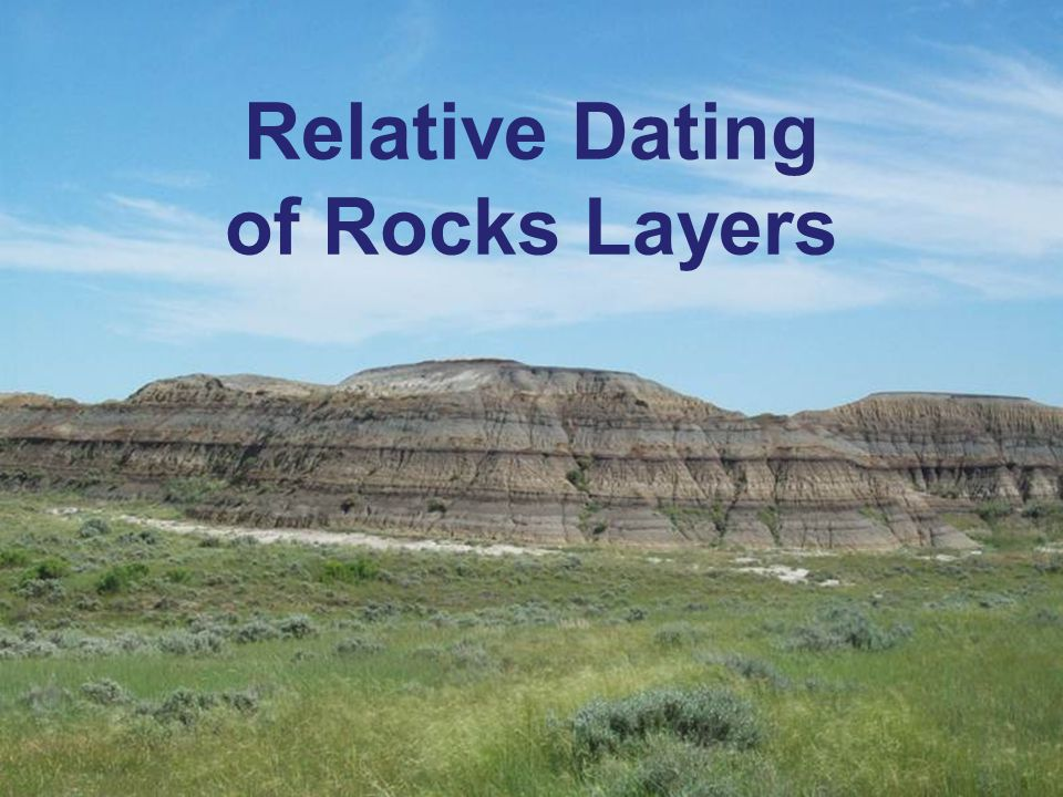 Relative Dating of Rocks Layers