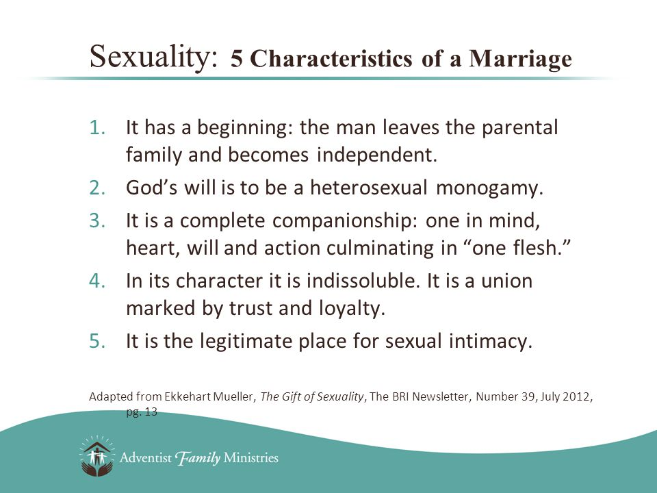 1.It has a beginning: the man leaves the parental family and becomes independent.