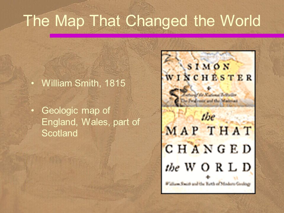 William Smith, 1815 Geologic map of England, Wales, part of Scotland The Map That Changed the World