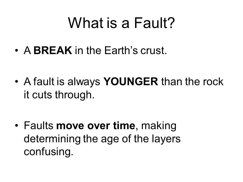 Heres a Fault