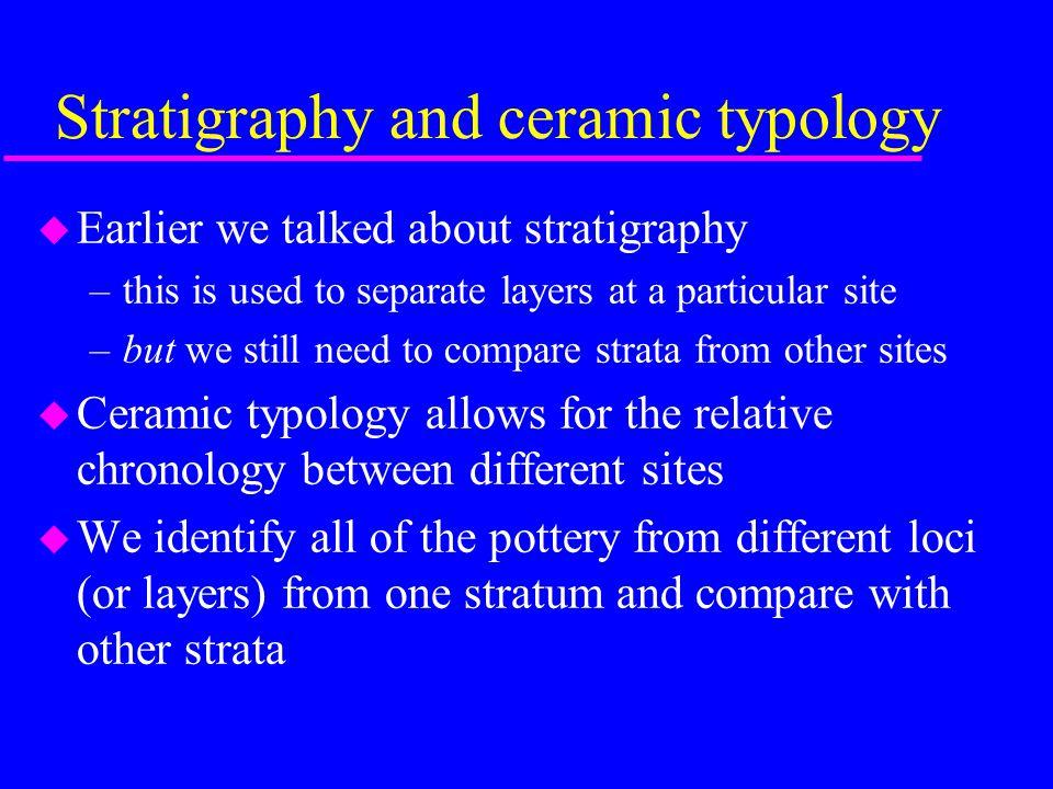 Our Goal: identify pottery in strata Modern Stratum Stratum I Stratum II