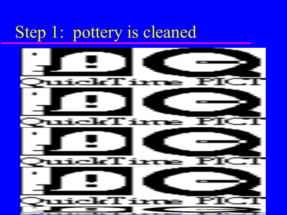 Ware appearance AND composition of clay pottery skill varies over time also includes study of provenance of clay