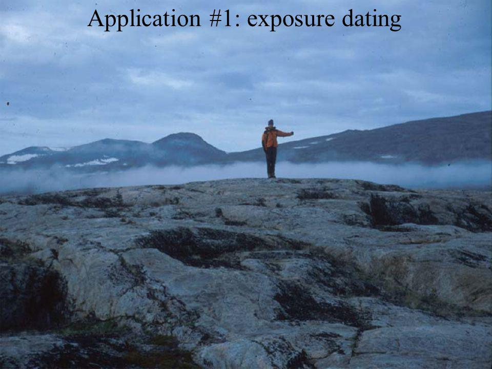 Application #1: exposure dating