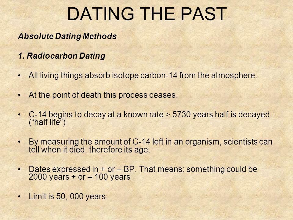 Radiocarbon dating method ppta