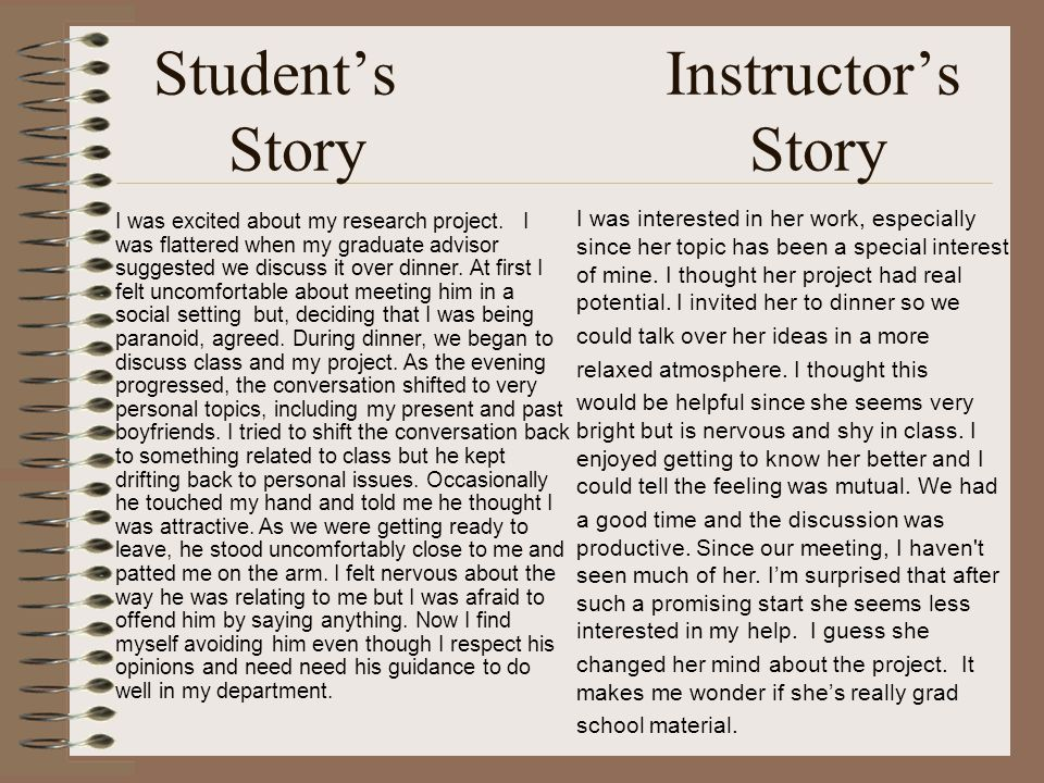 Students Instructors Story Story I was excited about my research project.