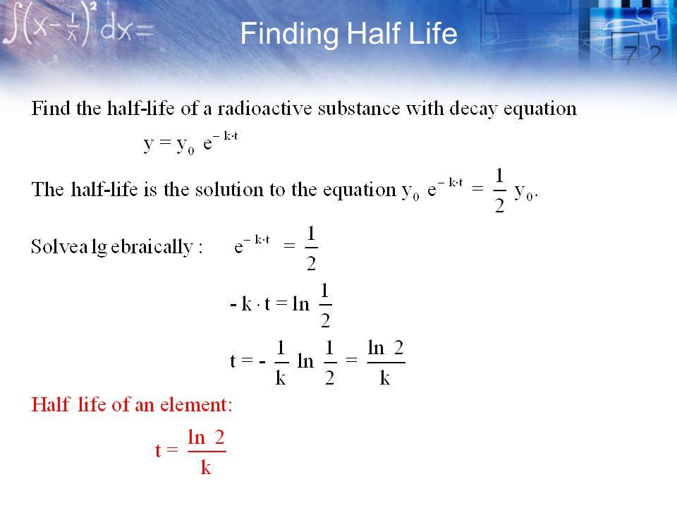 Finding Half Life