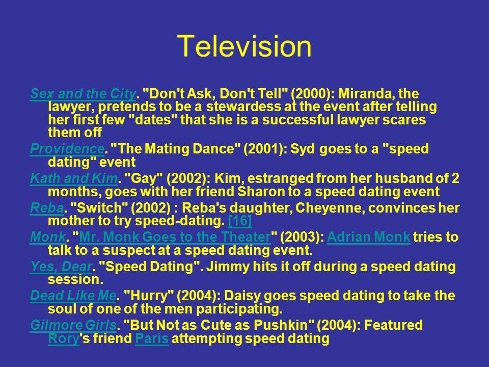 Television Sex and the CitySex and the City.
