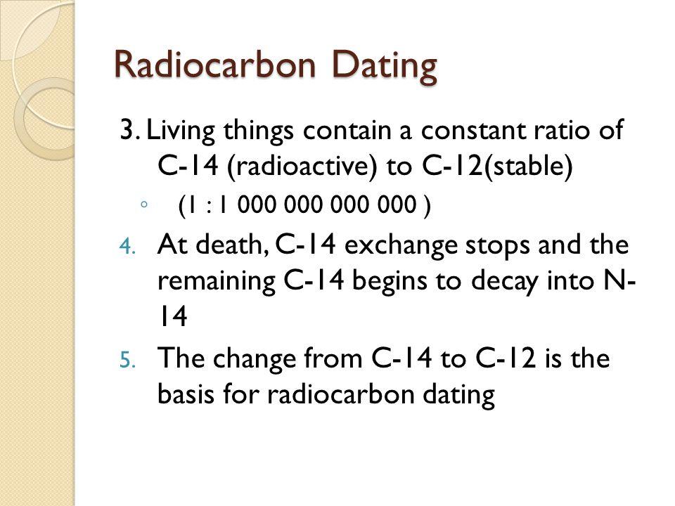 Radiocarbon Dating 3.
