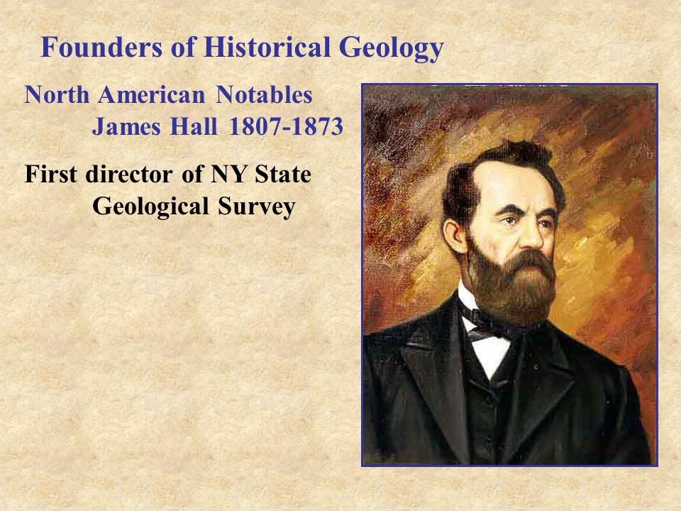 Founders of Historical Geology North American Notables James Hall1807-1873 First director of NY State Geological Survey
