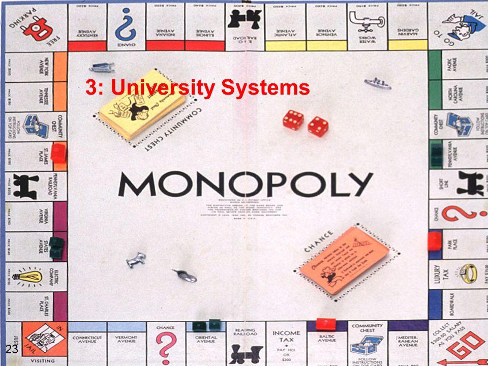 3: University Systems 23