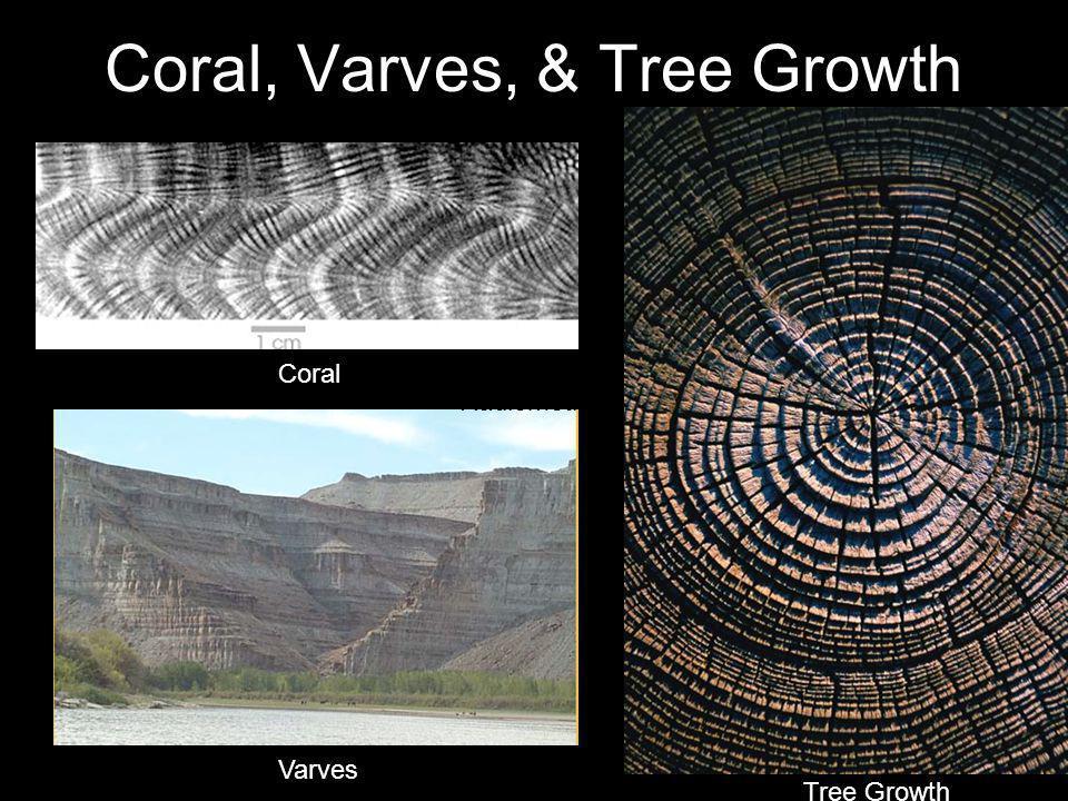 Coral, Varves, & Tree Growth Radiometric Varves Coral Tree Growth