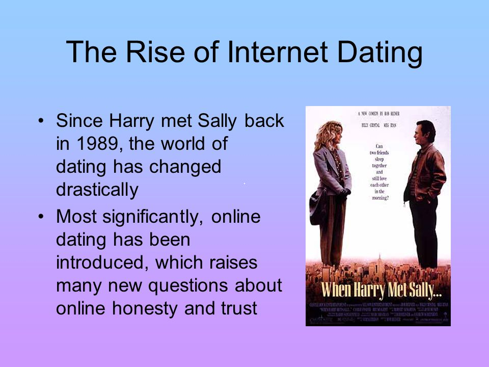 Some of the New Issues Introduced by Online Dating How can trust be established online.