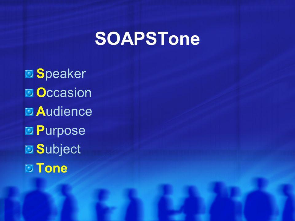 subjectaudience speaker or writer