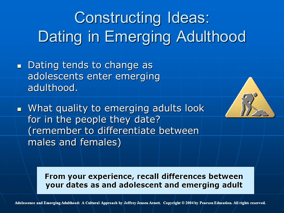 Adolescence and Emerging Adulthood: A Cultural Approach by Jeffrey Jensen Arnett. Copyright © 2004 by Pearson Education. All rights reserved. Construc