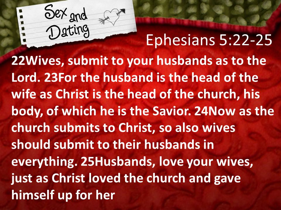 22Wives, submit to your husbands as to the Lord.
