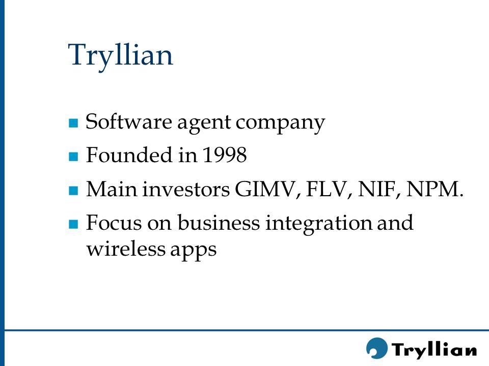 Tryllian Facts and Figures n CEO Han Witvoet n Founder Christine Karman n 40 employees n Head Office Amsterdam n Sales Office San Francisco n Initial revenues achieved