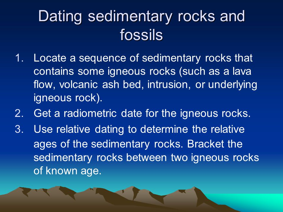 What isotopes are used in radioactive hookup of fossils