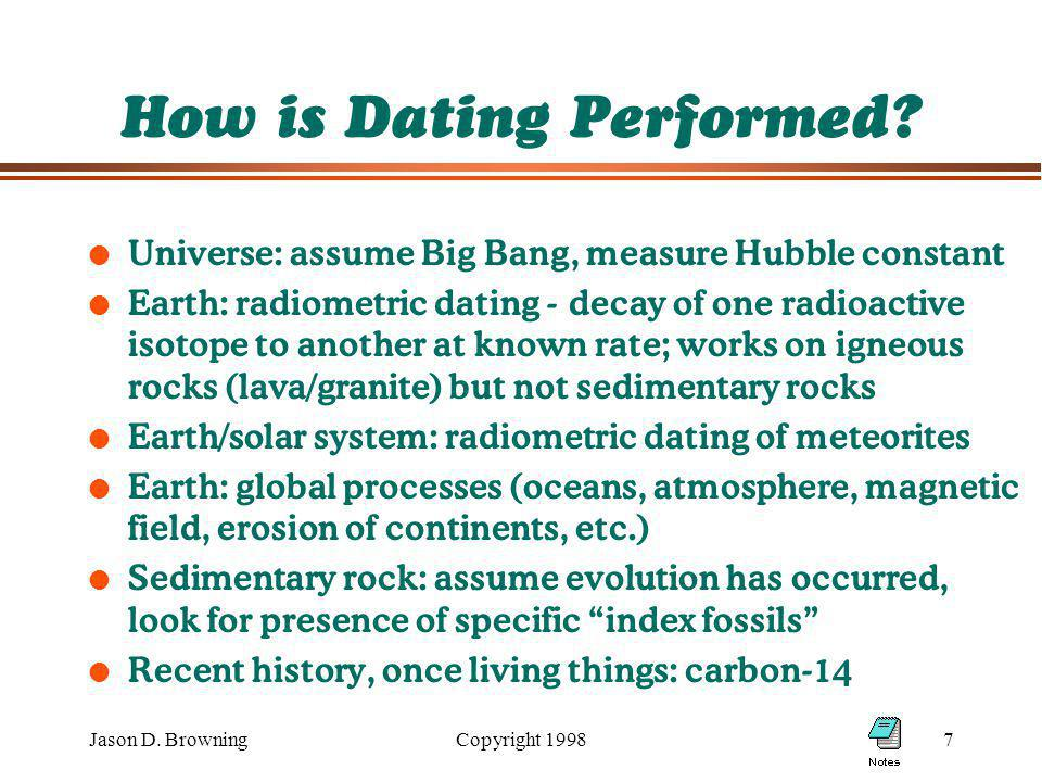 Jason D. BrowningCopyright How is Dating Performed.