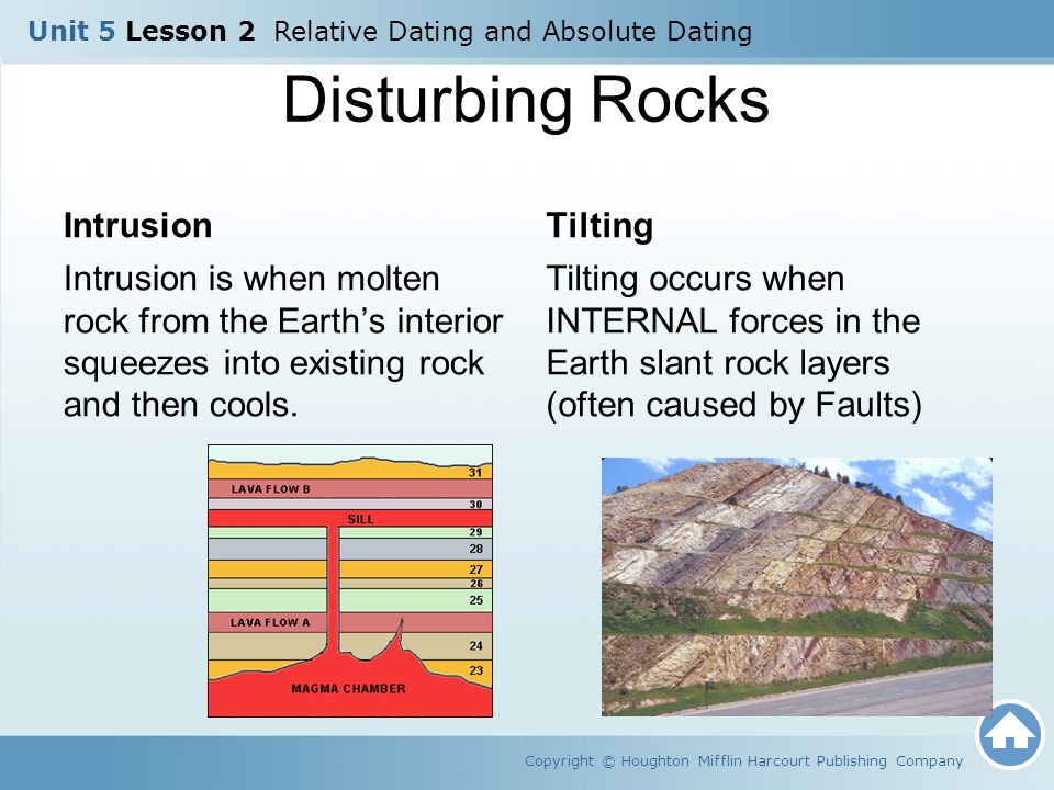 Showing Your Age Copyright © Houghton Mifflin Harcourt Publishing Company How can fossils help to determine the age of sedimentary rock.