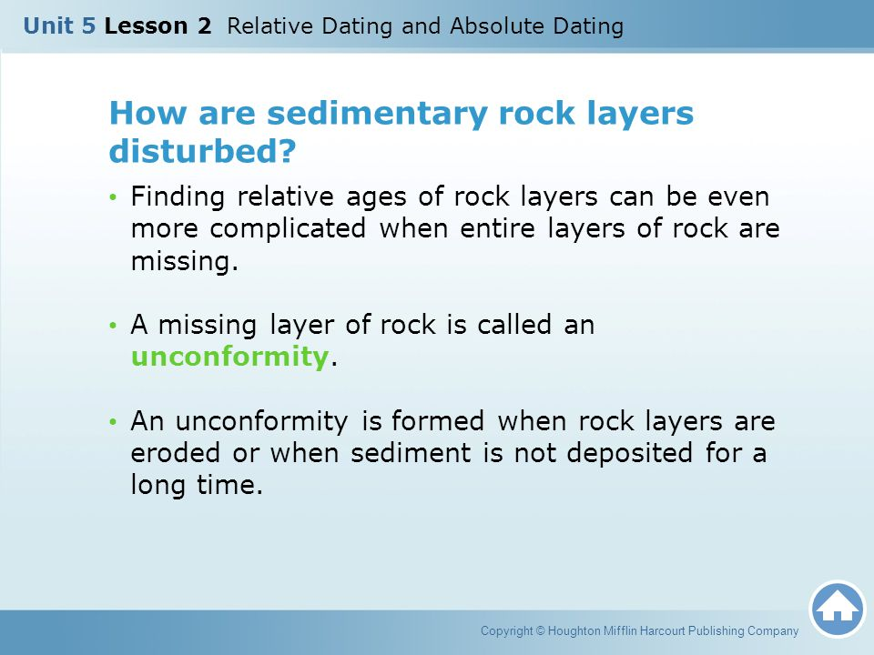 Copyright © Houghton Mifflin Harcourt Publishing Company How are rock layers ordered.