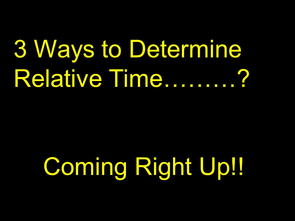 3 Ways to Determine Relative Time………? Coming Right Up!!