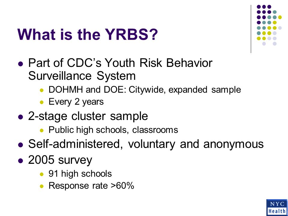 What is the YRBS.
