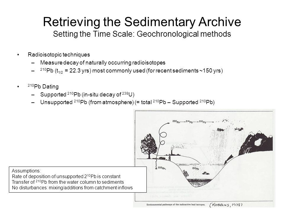 Retrieving the Sedimentary Archive Setting the Time Scale: Geochronological methods Radioisotopic techniques –Measure decay of naturally occurring rad