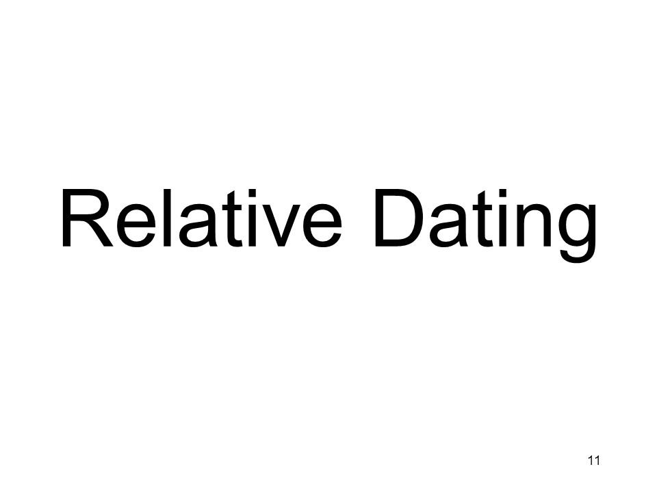 11 Relative Dating
