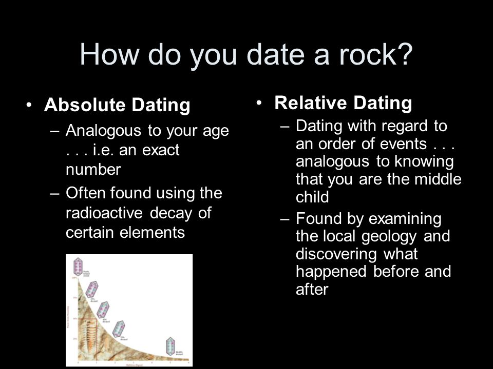 How do you date a rock. Absolute Dating –Analogous to your age...