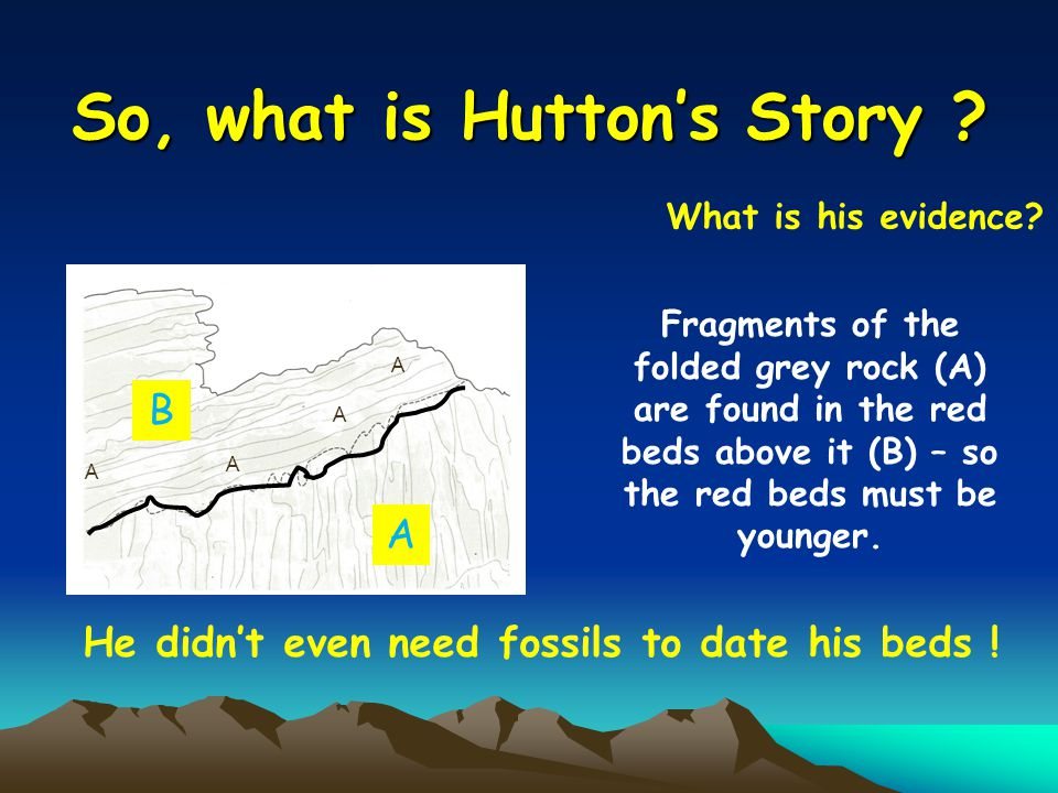 So, what is Huttons Story . What is his evidence.
