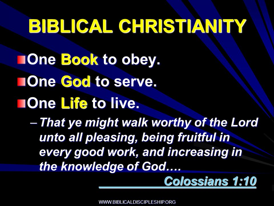WWW.BIBLICALDISCIPLESHIP.ORG MANY PROBLEMS IN THE CHRISTIAN LIFE RESULT FROM LACK OF: 1.