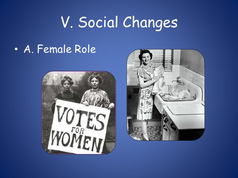 V. Social Changes A. Female Role
